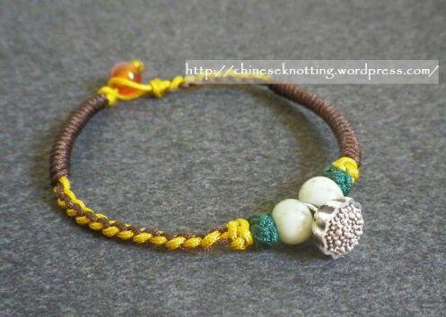 Chinese knot bracelet lotus root