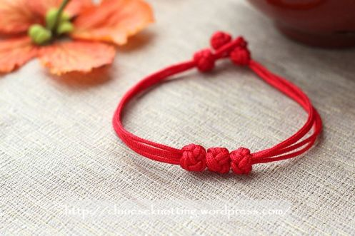 Chinese knot bracelet tutorial01