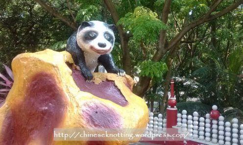 Leering panda